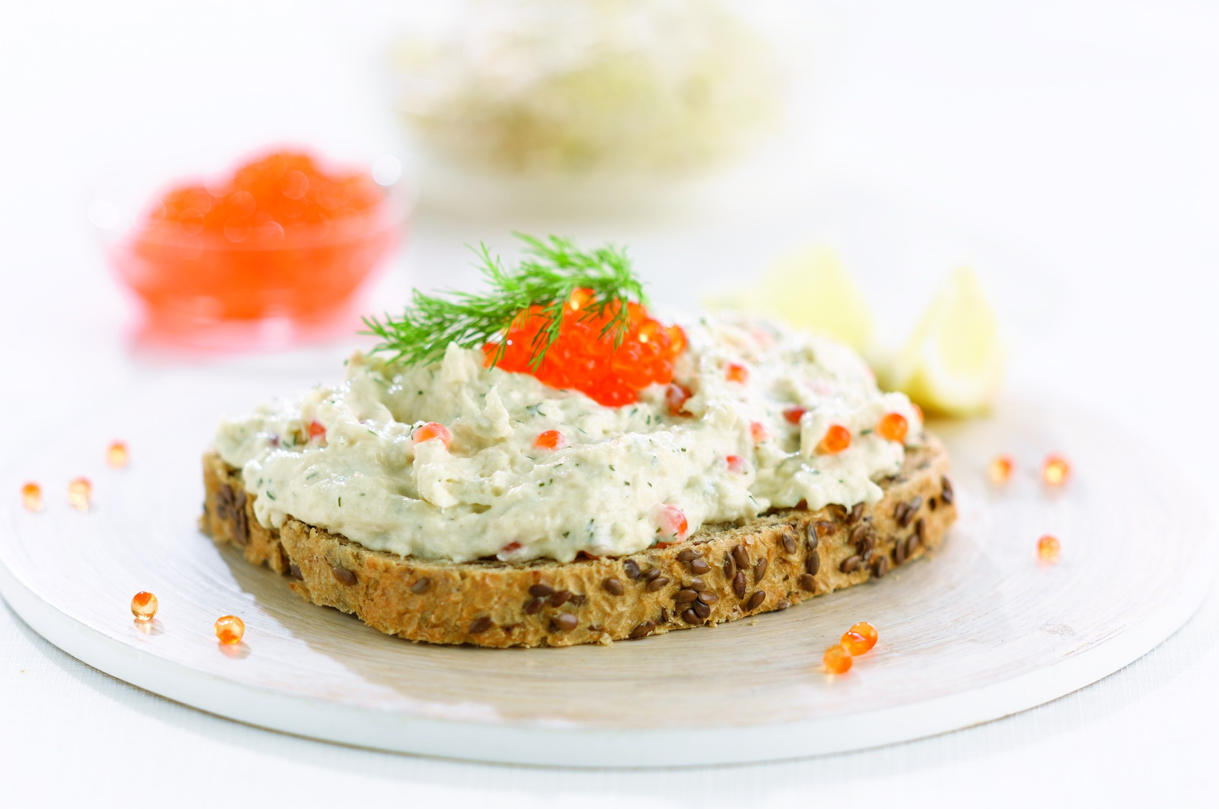 Forelchampagnesalade